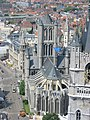 Ghent, Saint-nicolas church, view from cathedral.JPG