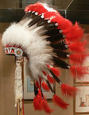 Gilcrease Museum - Gilcrease - Creek war bonnet (1970)