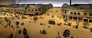 Ginza - Ginza as it appeared in the late 1870s-1880s (Miniature model at the Edo-Tokyo Museum)