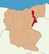 Giresun location Güce.png