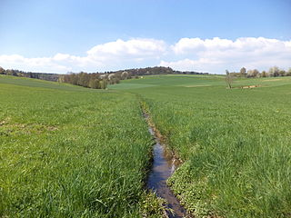 Glasbach (Main) River in Germany
