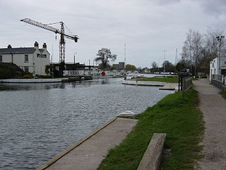 Gloucester and Sharpness Canal - The Gloucester and Sharpness Canal at Saul Junction