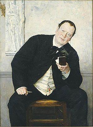 Media of Sweden - The 19th Century Swedish journalist Godfrey Renholm (1880 painting by Ernst Josephson