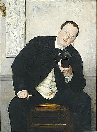 Media of Sweden - The 19th Century Swedish journalist Godfrey Renholm (1880 painting by Ernst Josephson