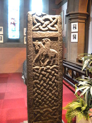 Govan Old Parish Church - Carved cross in Govan Old Church