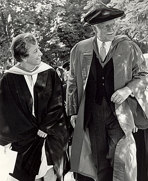Alma College (St. Thomas, Ontario) - Governor General Roland Michener attending the Alma College graduation ceremonies in 1972