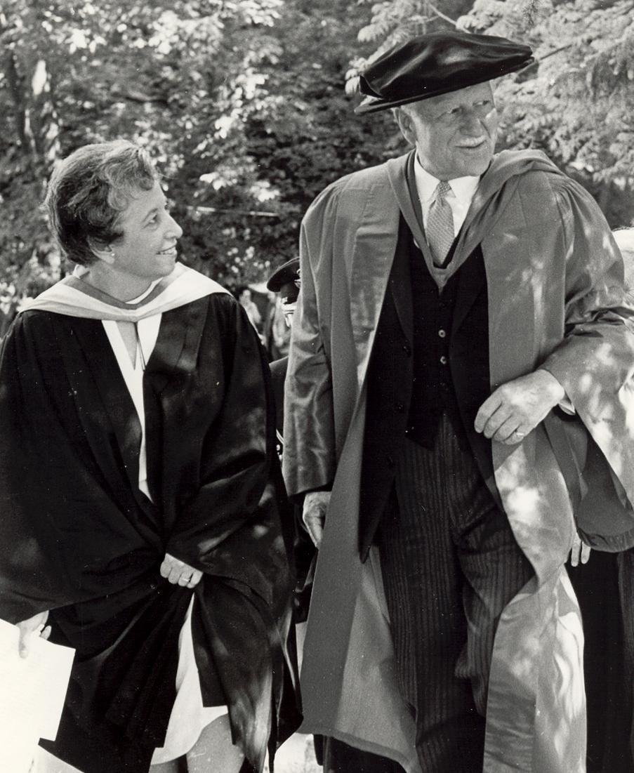 Governor General Roland Michener at Alma College graduation ceremonies 1972