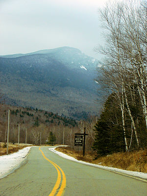 Old Speck Mountain - Old Speck Mountain seen from the bottom of Grafton Notch
