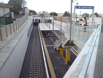 Grafton railway station, Auckland - Overview of Grafton Station from Khyber Pass Rd towards Park Rd (a few days after opening)