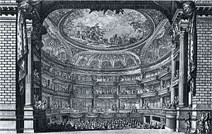 Grand Théâtre de Bordeaux - Image: Grand Théâtre Bordeaux engraving by Poulleau NGO1p 546