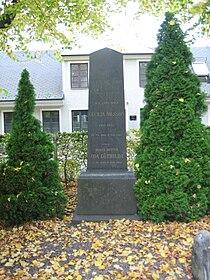 Grave of swedish professor Sven Nilsson in Lund Sweden.JPG