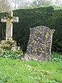 Gravestone and cross in St Marys Churchyard - geograph.org.uk - 355046.jpg