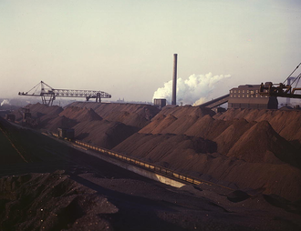 National Steel Corporation - National Steel Corporation furnaces and stockpiles, Detroit, Michigan, 1942