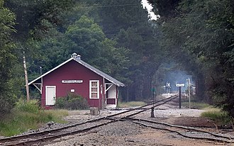 National Register of Historic Places listings in Lawrence County, Mississippi - Image: Great Northern Railroad Depot