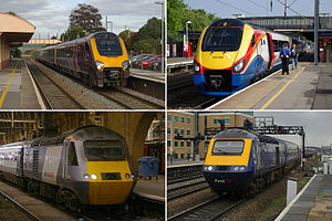 Greater Western franchise - Four bidders pre-qualified for the 2013 Great Western passenger franchise: clockwise from top left, Arriva, Stagecoach, First and National Express