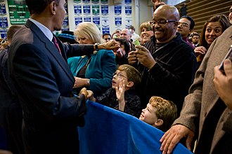 Green Valley High School - Obama at the school on February 19, 2010
