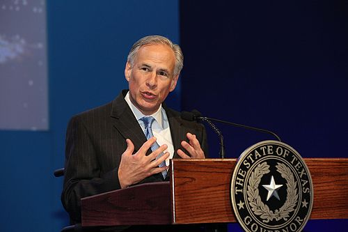 Abbott speaking at the 2016 World Travel and Tourism Council conference Greg Abbott, Governor of Texas (26279225765).jpg
