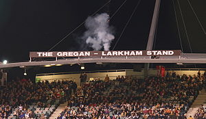Stephen Larkham - The Gregan - Larkham Grandstand at Canberra Stadium
