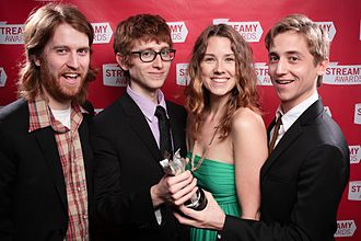 The Gregory Brothers - The Gregory Brothers at the 2nd Streamy Awards (l-r: Andrew, Michael, Sarah, Evan)