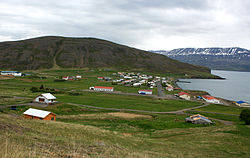 View of the village of Grenivík, the municipal seat