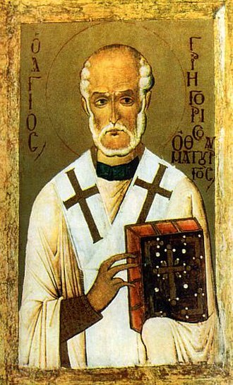 Gregory Thaumaturgus - Saint Gregory the Miracle-Worker 14th century icon