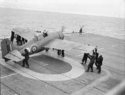 Grumman Wildcat on HMS Pursuer