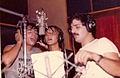 """Grupo """"The Morgan"""" en el estudio grabando """"Lanza Perfume"""" 2.jpg"""