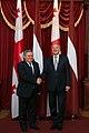 Gruzijas parlamenta priekšsēdētājs tiekas ar Latvijas Valsts prezidentu Andri Bērziņu (10688363944).jpg
