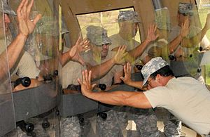 Initial Reaction Force - Indoors Guantanamo riot squad training