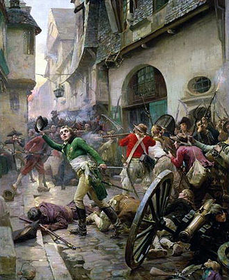 War in the Vendée - Henri de La Rochejacquelein at the Battle of Cholet in 1793 by Paul-Émile Boutigny