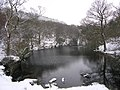 Guisecliff Tarn in the snow - geograph.org.uk - 542984.jpg