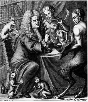 Jacob Paul von Gundling - Satirical portrait of Gundling