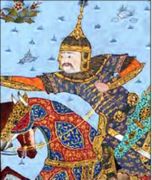 Gostaham - In the Shahnameh of Shah Tahmasp.