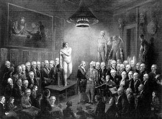 Royal Danish Academy of Fine Arts - Image: Gustav III's Visit to the Konstakadamien 1780