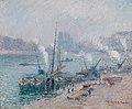 Gustave Loiseau, Paris, Le Port Henri IV, 1921.jpg