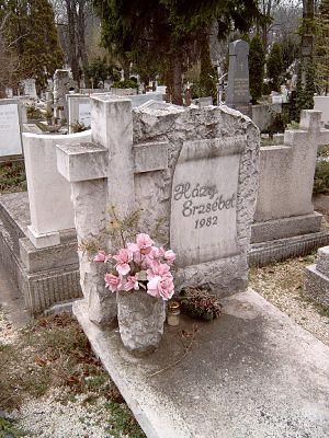 Erzsébet Házy - Tomb of Erzsébet Házy in the Farkasréti Cemetery