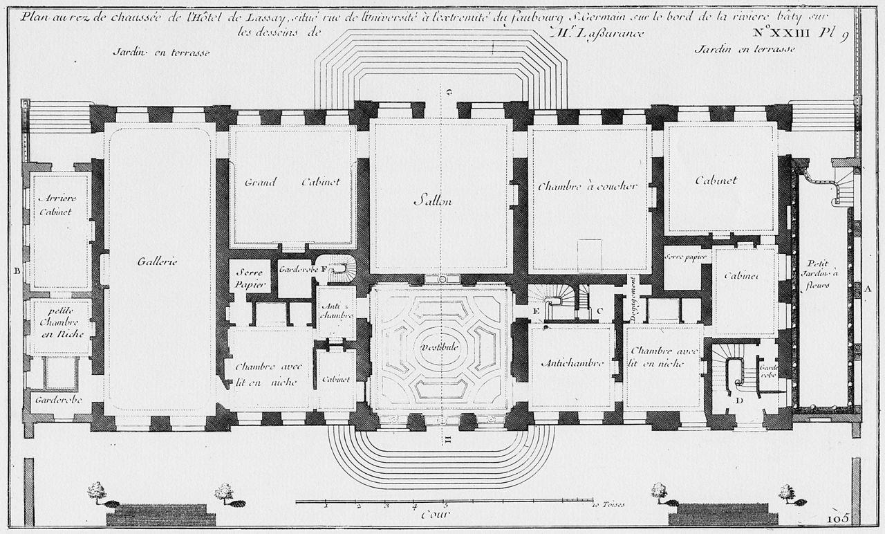 Datei H 244 Tel De Lassay Plan Au Rez De Chauss 233 E