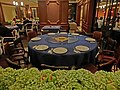 HK Admiralty 太古廣場 Pacific Place mall basement Peking Garden Restaurant interior Nov-2013 round table cloth cover.JPG