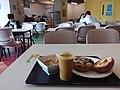 HK Ho Man Tin campus PolyU Student Halls of Residence canteen after lunch food 豬扒包 Pork Chop Bun Bread February 2019 SSG 06.jpg