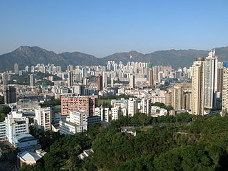 Kowloon City District - Day view of the Kowloon City District skyline