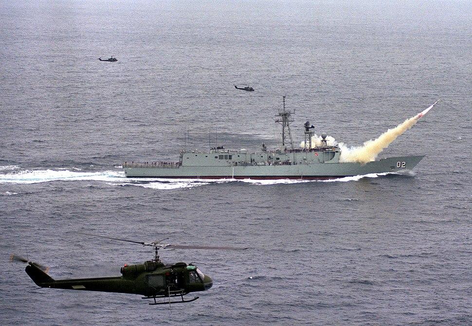 HMAS Canberra (FFG 02) Harpoon