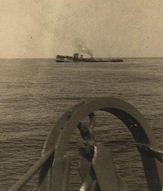 HMS Attack (1911) - Attack settling on 30 December 1917