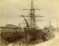 HMS Canada in dry-dock, Halifax Graving Yards, Halifax, Nova Scotia.png