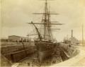 HMS Canada in dry-dock, Halifax Graving Yards, Halifax, Nova Scotia.png
