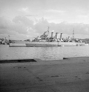 HMS <i>Cumberland</i> (57) cruiser