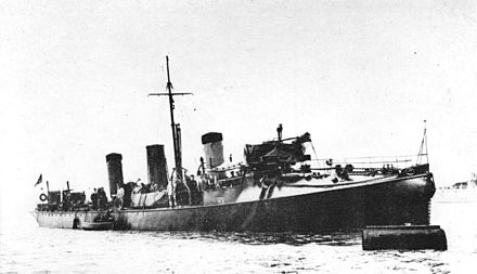 HMS Havock, the first modern destroyer, commissioned in 1894 HMS Havock (1893).jpg