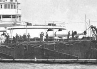 HMS Victoria (1887) - Turret on Sans Pareil