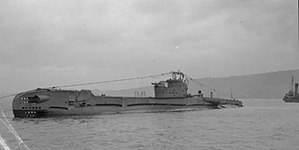 HMS Taciturn am 1. November 1946
