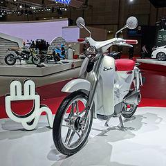 HMSI Esitteli Shkmopedikonseptiaan EV Cub Vuoden 2016 Alussa Auto Expo 2016ssa Intiassa