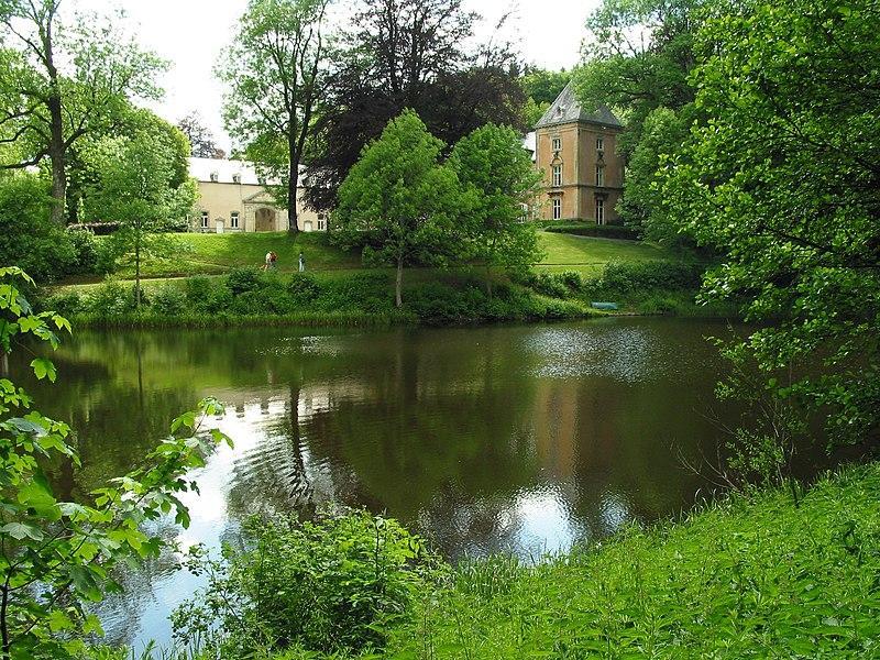 Habay-la-Neuve (Belgium), the «Pont d'Oye» castle.